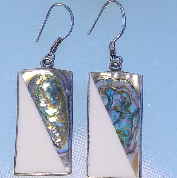 86aa490b5 Vintage Jewelry | Vtg Native Mexico Abalone And Enamel Alpaca Silver ...